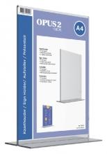 , Kaarthouder OPUS 2 T-standaard A4 staand acryl