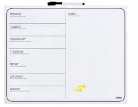 , Planbord week Desq 40x50cm ranloos + marker magnetisch
