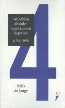 Hella de Jonge, Thomas  Erdbrink Set van 5 toesprakenboekjes 4/5 mei 2016 door Hella de Jonge en Thomas Erdbrink