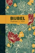 , Bijbel (HSV) met psalmen - hardcover bloemen
