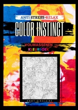 Emmy Sinclaire , Volwassenen kleurboek Color Instinct : Anti Stress Relax bloemen