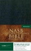 Giant Print Reference Bible-NASB-Personal Size,Black Leather Reference