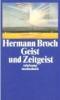 Broch, Hermann,Geist und Zeitgeist