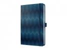 ,notitieboek Sigel Jolie Beauty A5 hardcover gelinieerd blauw