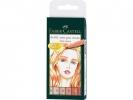 <b>Fc-167162</b>,Faber-Castell 6 Pitt Artist Viltstiften Skin Tones