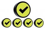 ,<b>Magneet check 35mm geel</b>