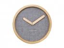 ,Wandklok NeXtime dia. 30 cm, hout & stof, grijs, `Calm`