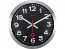 <b>wandklok NeXtime dia. 35.0    stat. aluminium zwart                                       wijzerwit - uurwerk stil</b>,