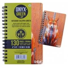 Onyx & Green Notebook Fox