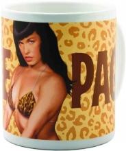 Bettie Page Leopard Skin Mug