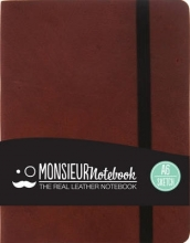 Hide Stationery Ltd Monsieur Notebook Leather Journal - Brown Sketch Small
