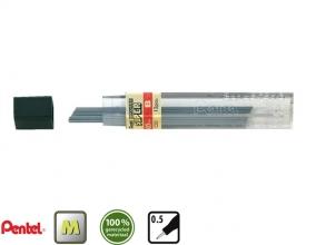 , Potloodstift Pentel 0.5mm zwart per koker B