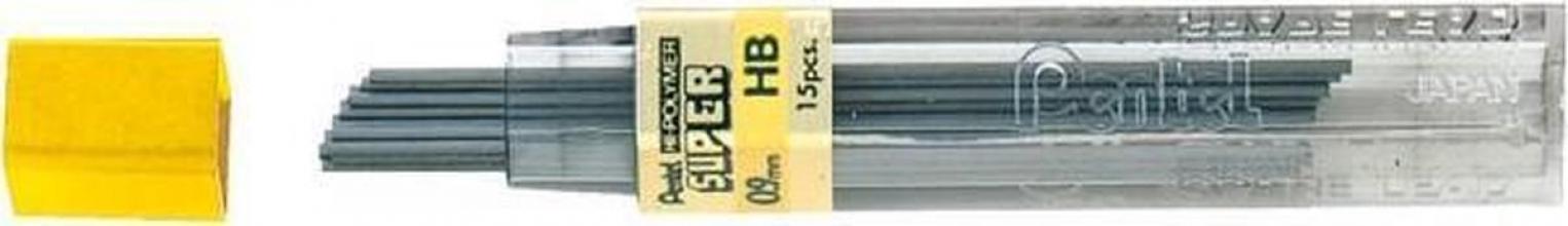 , Potloodstift Pentel 0.9mm zwart per koker HB