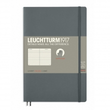 Lt358326 , Leuchtturm notitieboek softcover 19x12.5 cm lijn antraciet