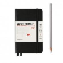 Lt362098 , Leuchtturm agenda 2021 a5 1 dag pp pocket 9x15 zwart