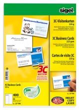 , visitekaartjes Sigel 3C 225g wit 400 stuks