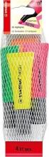 , Markeerstift STABILO 72/4-1 neon netje à 4 kleuren