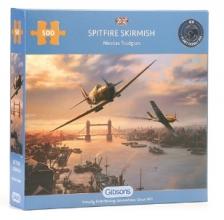 Gib-g3112 , Puzzel gibsons spitfire skirmish  500 stukjes 48x34cm