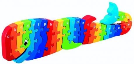 , Houten puzzel Walvis - Alfabet - Lanka Kade