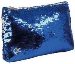 , Etui qc sparkle 23cm plat blue sequins