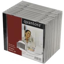 , Cd doos Quantore jewelcase 10stuks leeg transparant
