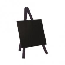 , Krijtbord Securit mini 3-poot 26x15.5x1.3cm zwart hout