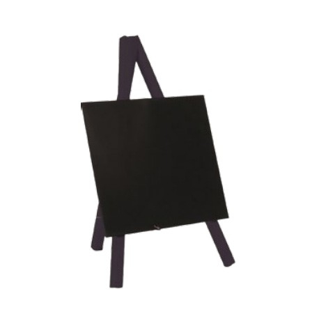 ,Krijtbord Securit mini 3-poot 26x15.5x1.3cm zwart hout