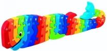 ,<b>Houten puzzel Walvis - Alfabet - Lanka Kade </b>