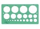 ,<b>Sjabloon Linex 1118S 22 cirkels 1-35mm met inktvoetjes</b>