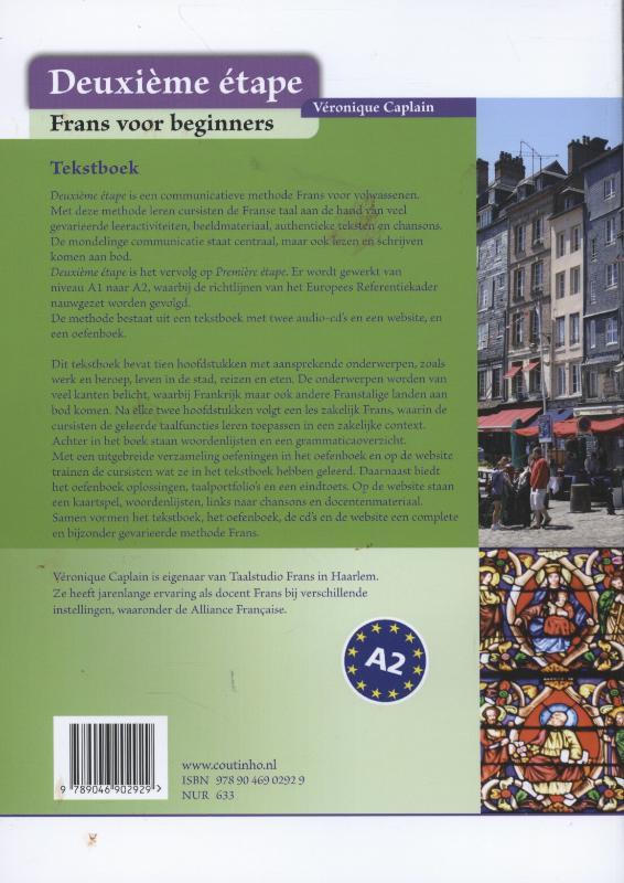 Véronique Caplain,Deuxieme etape Tekstboek