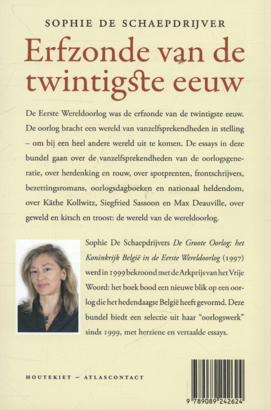 Sophie De Schaepdrijver,Erfzonde van de twintigste eeuw