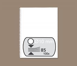 , Draadrug Fellowes 10mm 34-rings A4 wit 100stuks