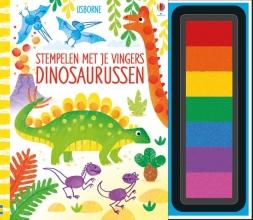 , Stempelen met je vingers Dinosaurussen