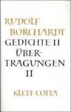 Borchardt, Rudolf Gedichte 2 Übertragungen 2