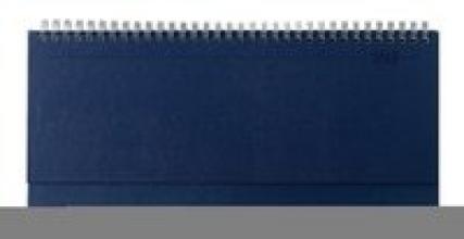 Tisch-Querkalender Balacron blau 2018