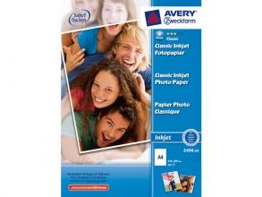 , fotopapier Avery A4 180gr doos 50 vel wit glanzend