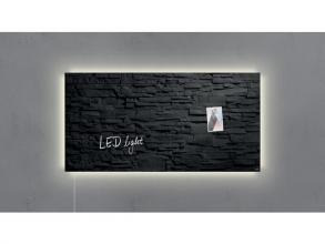 , glasmagneetbord Sigel Artverum LED 910x460x15 leisteen