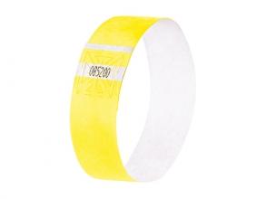 , evenementenbandjes Sigel super soft, 255x25mm 120 stuks     fluorescerend geel