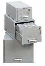 , Kaartenbak Durable metaal A6 100x150mm lichtgrijs 3352-10