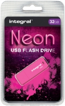 , USB-stick 2.0 Integral 32GB neon roze