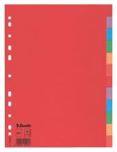 , Tabbladen Esselte A4 11R karton 12-delig zonder voorblad