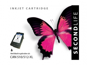 , Cartridge SecondLife Canon PG 510/512 zwart