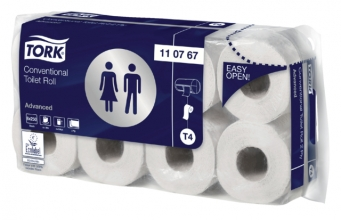 , Toiletpapier Tork T4 110767 Advanced 2laags 250vel 64rollen wit