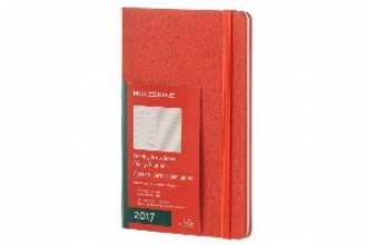 MOLESKINE 2017 MOLESKINE CORAL ORANGE LARGE WEEKLY