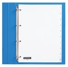 , Tabbladen Quantore 4-gaats 1-10 genummerd wit PP