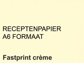 , Receptpapier Fastprint A6 80gr creme 2000vel