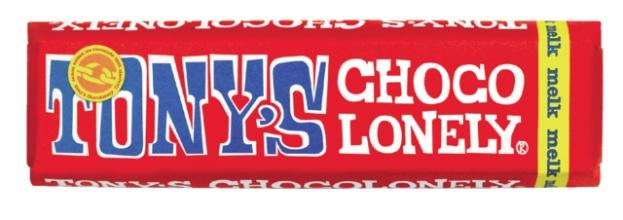 , Chocolade Tony`s Chocolonely reep 50gr melk
