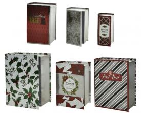 , Cadeaudoos boekenvorm set 6 formaten