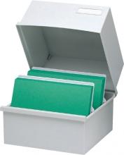 , Kaartenbak Exacompta 240x238x187mm kunststof grijs