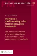 I.J. Krukkert , Individuele straftoemeting in het fiscale bestuurlijke boeterecht